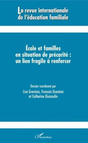 Ecoles et familles en situation de précarité : un lien fragile à renforcer-l'harmattan-9782343172439