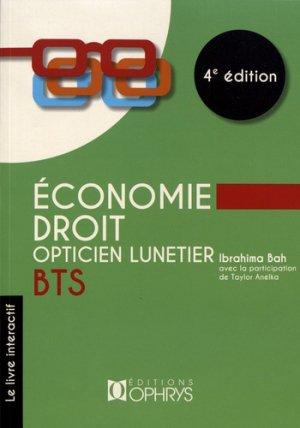 Economie - Droit BTS opticien lunetier-ophrys-9782708015135