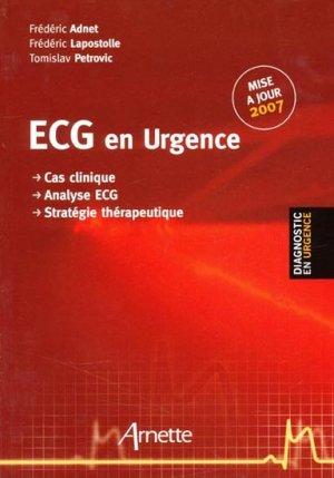ECG en urgence - arnette - 9782718411682