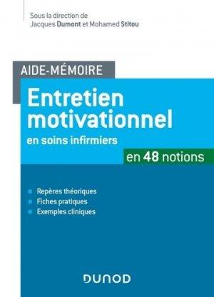 Entretien motivationnel en soins infirmiers - dunod - 9782100783281