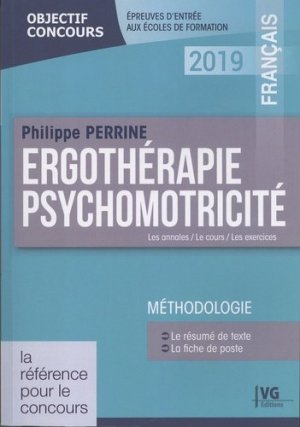 Ergothérapie, psychomotricité : français 2019-vernazobres grego-9782818317037