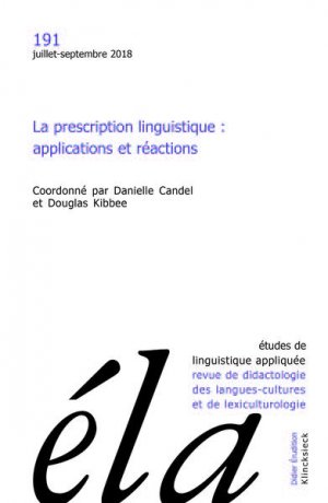 Études de linguistique appliquée-klincksieck-9782252041666