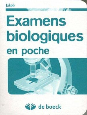 Examen biologiques en poche - de boeck superieur - 9782804169510