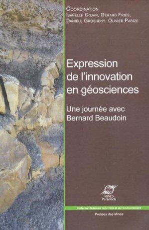 Expression de l'innovation en géosciences - presses des mines - 9782911256844