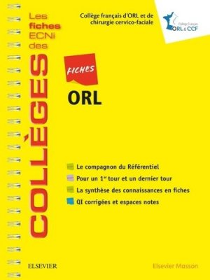 Fiches ORL - elsevier / masson - 9782294756801
