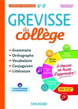 Français 6e-3e Grevisse du collège - magnard - 9782210756410