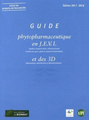Guide phytopharmaceutique en J.E.V.I ( jardin, espaces verts, infrastructures) 2017-2018-horticulture et paysage-9782917465516