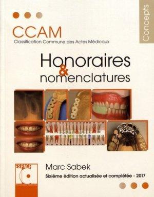 Honoraires et nomenclatures-espace id-9782361340520