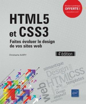 Html5 et css3 - faites evoluer le design de vos sites web (4e edition)-eni-9782409018510