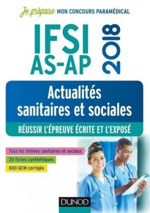 IFSI-AS-AP 2018 - Actualités sanitaires et sociales-dunod-9782100769551