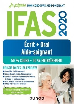 IFAS 2020 Concours Aide-soignant Ecrit + Oral-dunod-9782100798384