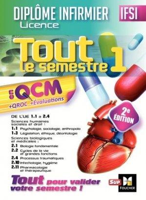 IFSI Tout le semestre 1 en QCM et QROC - Diplôme infirmier-foucher-9782216146659