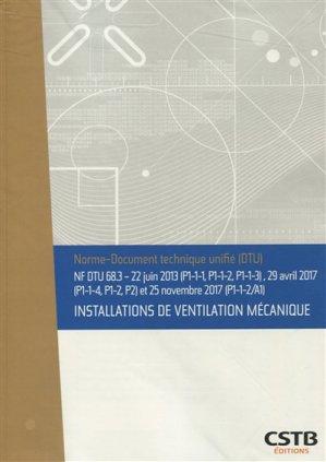 Installations de ventilation mécanique-CSTB-3260050851626