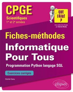 Informatique Pour Tous - Fiches-méthodes et exercices corrigés-ellipses-9782340026131