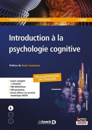 Introduction à la psychologie cognitive - de boeck superieur - 9782807307841