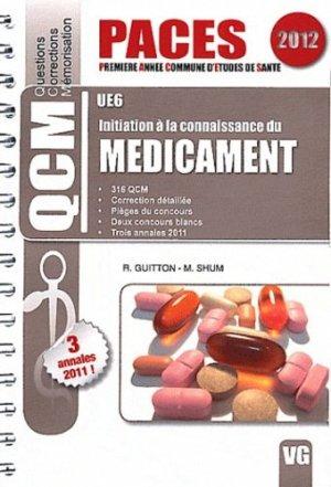 Initiation à la connaissance du médicament UE6-vernazobres grego-9782818305201