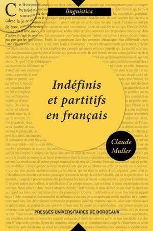 Indéfinis et partitifs en français - pu bordeaux - 9791030003574