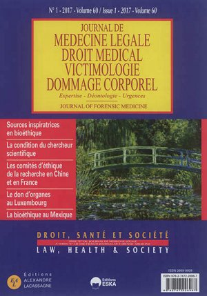 JOURNAL DE MEDECINE LEGALE ET DROIT MEDICAL