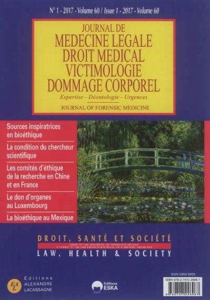 JOURNAL DE MEDECINE LEGALE ET DROIT MEDICAL