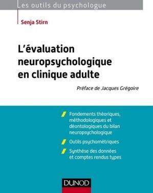 L'évaluation neuropsychologique en clinique adulte-dunod-9782100570324