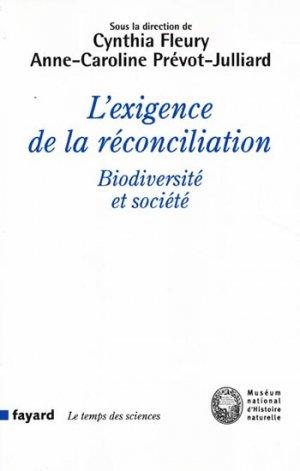 L'exigence de la réconciliation-fayard-9782213668598