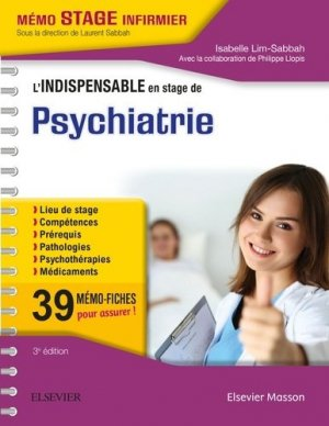 L'indispensable en STAGE de Psychiatrie-elsevier / masson-9782294750038