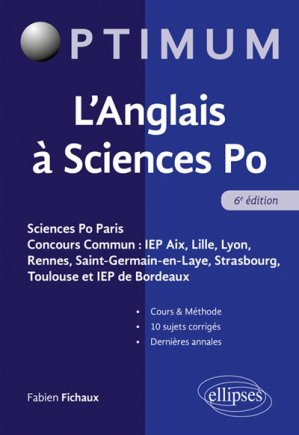 L'anglais  sciences PO-ellipses-9782340029446