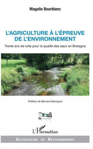 L'agriculture à l'épreuve de l'environnement - l'harmattan - 9782343166209