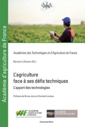 L'agriculture face à ses défis techniques-presses des mines-9782356715609
