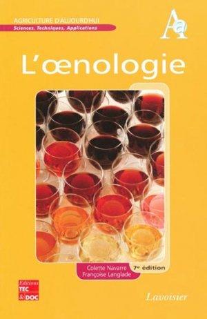 L'oenologie-lavoisier / tec et doc-9782743012977