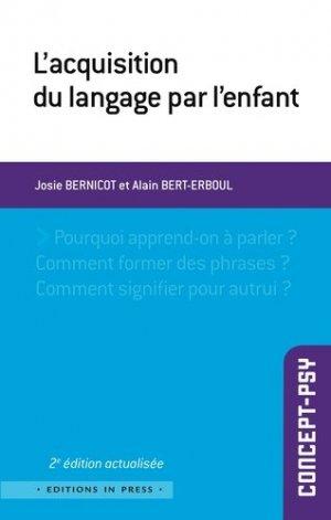 L'acquisition du langage par l'enfant - in press - 9782848352831