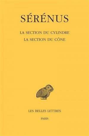 La Section du cylindre-les belles lettres-9782251006314