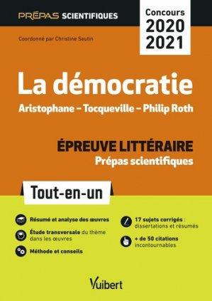 La Démocratie épreuve littéraire prépas scientifiques - vuibert - 9782311406535