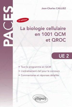 La biologie cellulaire en 1001 QCM et QROC-ellipses-9782340029422