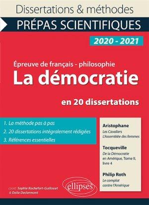 La démocratie en 20 dissertations - ellipses - 9782340030602