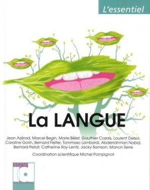 La langue - espace id - 9782361340285