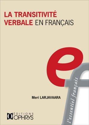 La transitivité verbale en français-ophrys-9782708015418