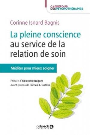 La pleine conscience au service de la relation de soin-de boeck superieur-9782807305687