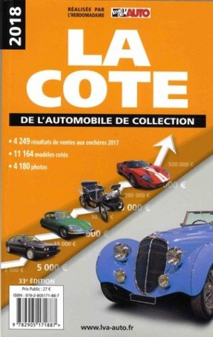 La cote de l'automobile de collection 2018-lva-9782905171887