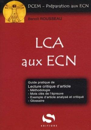 LCA aux ECN - s editions - 9782356400390