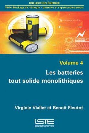 Les batteries tout solide monolithiques-iste-9781784054564