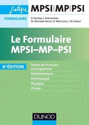 Le formulaire MPSI-MP-PSI-dunod-9782100769780