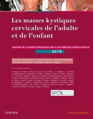 Les masses kystiques cervicales de l'adulte et de l'enfant-elsevier / masson-9782294761300