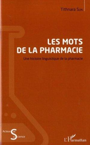 Les mots de la pharmacie-l'harmattan-9782343152028