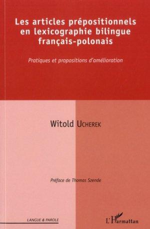 Les articles prépositionnels en lexicographie bilingue français-polonais - L'Harmattan - 9782343171395