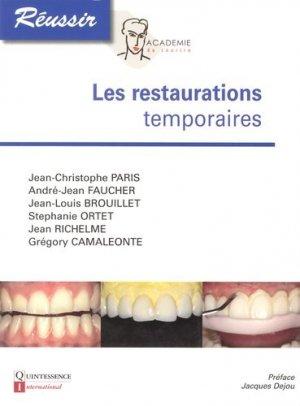 Les restaurations temporaires-quintessence international-9782366150063