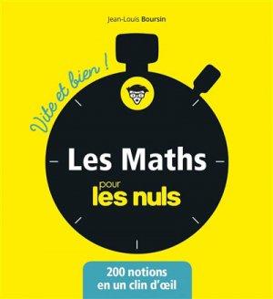 Les mathématiques pour les Nuls-first -9782412038970