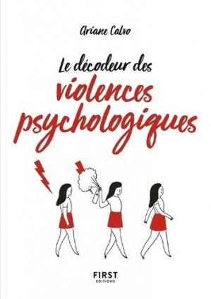 Le petit livre des décodeur des violences psychologiques - First - 9782412042564