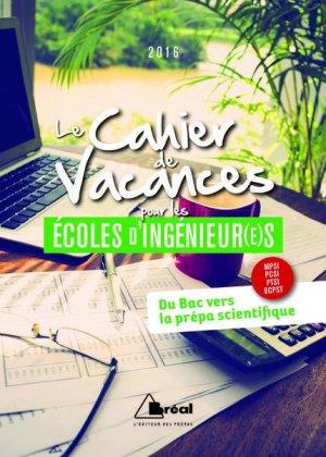 Le Cahier de vacances pour les écoles d'ingénieur(e)s-breal-9782749535098