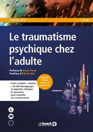 Le traumatisme psychique chez l'adulte-de boeck-9782807320390